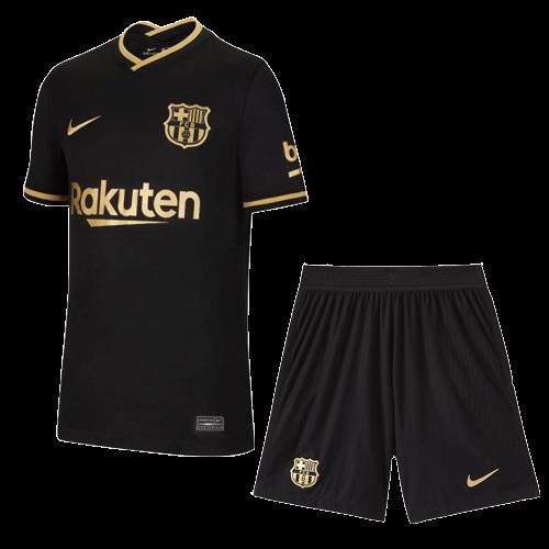 ברצלונה סט 20-21 חולצה ומכנס חוץ בצבע שחור