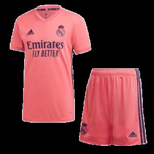 ריאל מדריד 20-21 סט חולצה ומכנס חוץ צבע ורוד